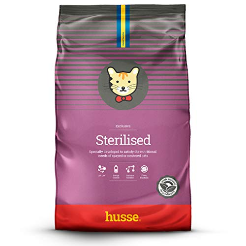 Husse - Exclusive Sterelised 7 kg | Pienso Gatos | Gatos Castrados, Esterilizados o Poco Activos | Sabor Pollo y Salmón | Prevención...