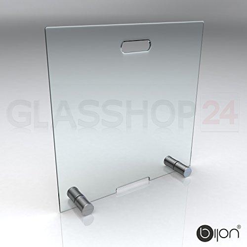 bijon® Kamin Funkenschutz aus Spezial-Sicherheitsglas HxB 600x600mm | Kamin Ofen Glas Funkenschutzgitter