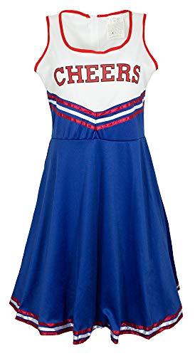 Cheerleader Cheers Kostüm für Damen - Blau Weiß Rot - Gr. 36/38