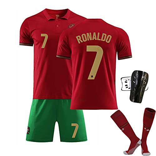 YHJA Camiseta de fútbol, 2021 Portugal Local No. 7 C.r.i.s.t.i.a.no Camiseta R.o.n.a.l.d.o...