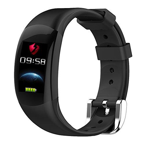 LEMFO LT02 - Braccialetto Intelligente LCD a Colori, cardiofrequenzimetro Braccialetto di Fitness IP68 Impermeabile Pedometro Smart Band Bluetooth