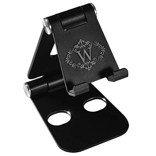 Monogram Soporte para teléfono celular, totalmente plegable, ajustable, soporte para teléfono de escritorio, compatible con todos los...