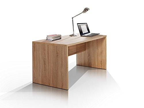 moebel-eins Camillo Schreibtisch 160 cm breit, Material Dekorspanplatte, Eiche sonomafarbig