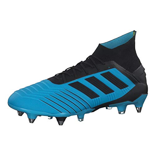 adidas Botas de fútbol para Hombre Predator 19.1 SG BRCYAN/CBLACK/Syello 46