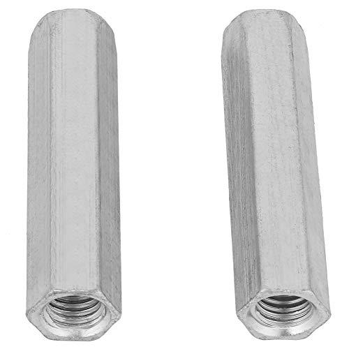 2 stücke M10*60 Verzinktem Stahl Lange Sechskantmutter Studding Connectors Überwurfmutter Lange Stange Kupplung Sechskantmutter Schraube Mutter Spalte für Verbinden Kontinuierliche Gewindestange