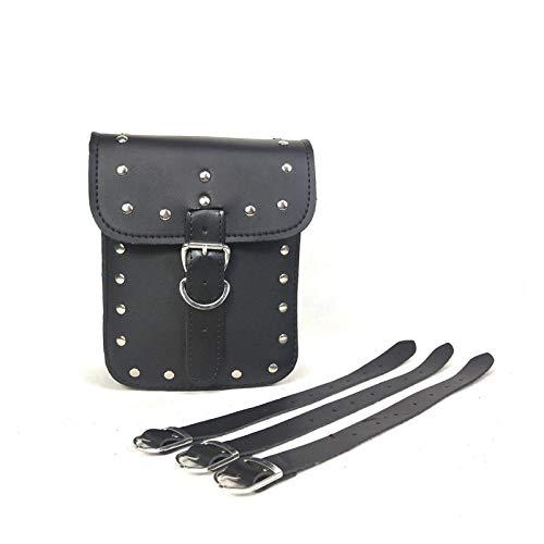 Bolsa de herramientas, bolsas de herramientas de PU, bolsa de herramientas pequeñas negras para alicates para estornilar, herramientas de tuerca y herramientas y piezas de repuesto ( Color : Black )