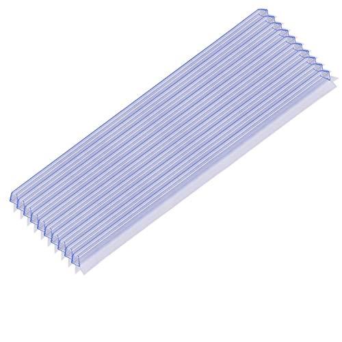 KANWA® Duschdichtung [10er Pack| 100cm für 6mm / 7mm / 8mm Glastüren - einfache Montage - Duschtürdichtung in Erstausrüster-Qualität
