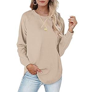 Casual Sweatshirts For Women 2021 Womens Fall Clothes Long Sleeve Shirts S