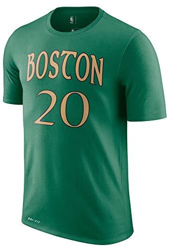 NBA Youth 8-20 Performance Dri Fit City Edition Name & Number Player T-Shirt (10-12, Gordon Hayward Boston Celtics Green City Edition)