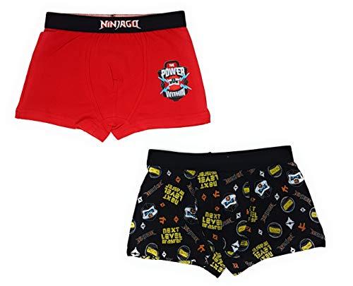 LEGO Ninjago Boxershorts Unterhosen 2er Pack Jungen (Farbmix 1, 140)