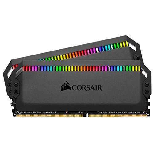 Corsair Dominator Platinum Kit de Memoria 16 GB, 2x8 GB, DDR4 3200 MHz C16, con Iluminación LED RGB, Negro
