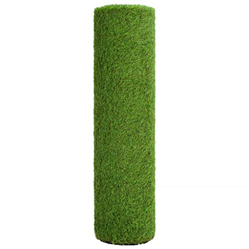 Tidyard Gazon Artificiel Exterieur | Gazon Artificiel Terrasse | Gazon Artificiel Décoration Vert 1,5 x 5 m / 40 mm
