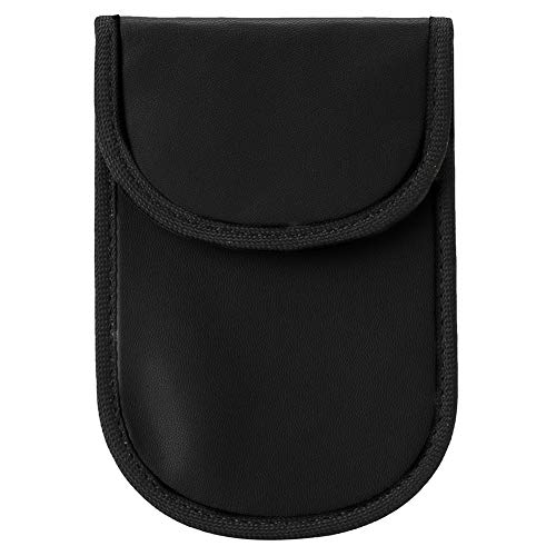Bolsa de Bloqueo de Señal RFID, Estuche Bloqueador de Señal de Llave para Coche, GPS Anti-seguimiento Bolsa de Llaves de Coche(Negro)
