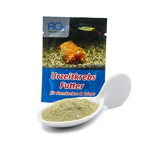 AQ4Aquaristik Futter für Urzeitkrebse (Triops, Feenkrebse, Artemia) - mit Anleitung - Aufzuchtfutter für Nauplien mit Spirulina und Algen
