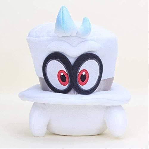 LINQ 20cm Super Mario Peluche Toy Super Mario Bros Odyssey Hat Cap Cabeza Cosplay Party Hat Muñecas de Relleno Suave Qianmianyuan