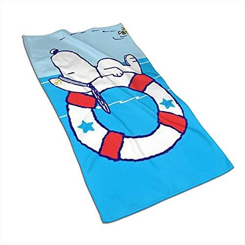 Snoopy im Meer Weiches superabsorbierendes schnell trocknendes Handtuch Badetuch Strandtuch - 27,5 x 17,5 Zoll
