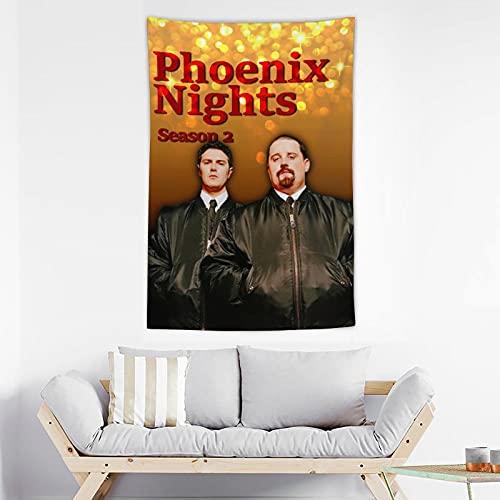 GBCC Phoenix Nights Tapiz de pared para decoración del hogar para sala de estar colgante de pared ropa de cama adecuado para dormitorio dormitorio