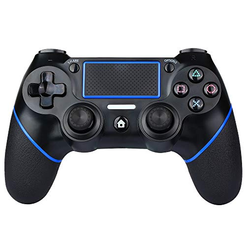 PS4 Controller Wireless Bluetooth Game Controller Dualshock Gamepad for Playstation 4 Touch Panel Gamepad with Dual Vibration, Instant Sharing of joysticks (Blue)