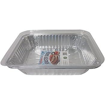 16 1//2 X 11 1//2 X 2 1//2 Pack of 12 Durable Packaging PRM450 Medium Oval Aluminum Roasting Pan