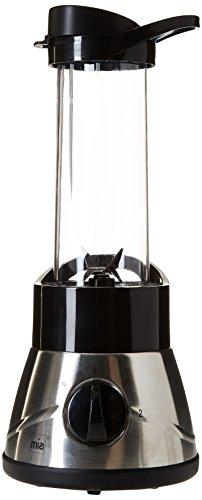 Mia BL 7591 Edelstahl Smoothie Maker, 4 Stufen Drehregler Trinkbecher, 4 flügeliges Edelstahlmesser, Spülmaschinen geeignet, Fassungsvermögen, 400 W, 500 ml