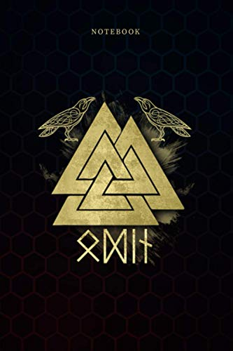 Simple Lined Notebook Viking Odin Valknut Huginn and Muninn Viking Graphic: Monthly, Wedding, 6x9 inch, A Blank, Weekly, 114 Pages, Daily Journal, Work List