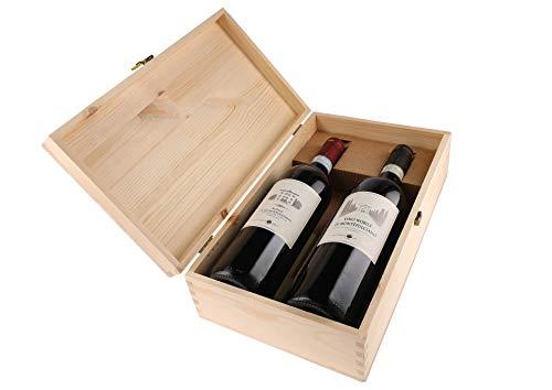 Cassetta da 2 bottiglie: Rosso e Nobile di Montepulciano Fattoria del Cerro Fattoria del Cerro 0,75 L Cassetta di legno