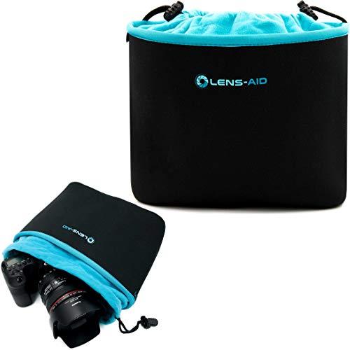 Lens-Aid Neopren Kamerabeutel mit Fütterung zum Schutz der Kamera-Ausrüstung, Kameratasche für Rucksack und Handtasche als Einschlagtuch-Ersatz (L)