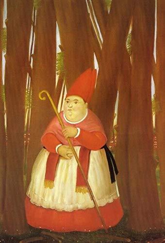 Fymm丶shop Nordische Lustige Kunst Mona Lisa Leinwandbilder Von Fernando Botero Berühmte Wandkunst Poster Und Drucke Abstrakte Kunst Bilder 40X50Cm -Y2189