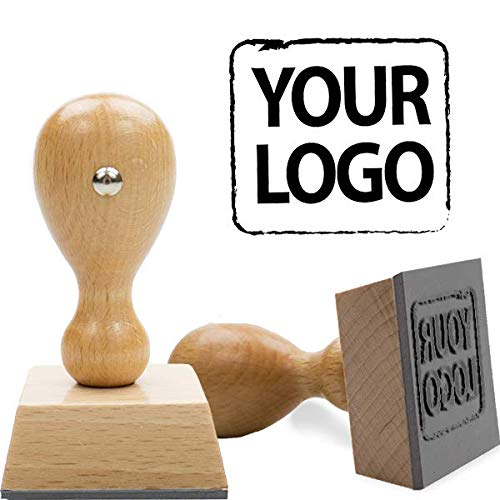 European Hand Stamp - Logo Stamp - Upload Your Custom Artwork! (Round Logo Stamp)