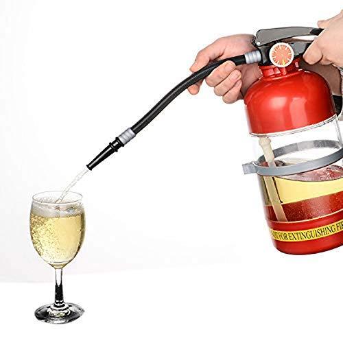 Ogquaton2L Feuerlöscher Form Wein Getränkespender Party Bier Wasserspender Bierfässer Bar Getränke Schnaps Getränkespender Langlebig und nützlich