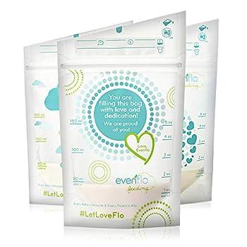 Evenflo Feeding Evenflo Feeding Advanced Breast Milk Storage Bags for Breastfeeding - 5 oz  100Count