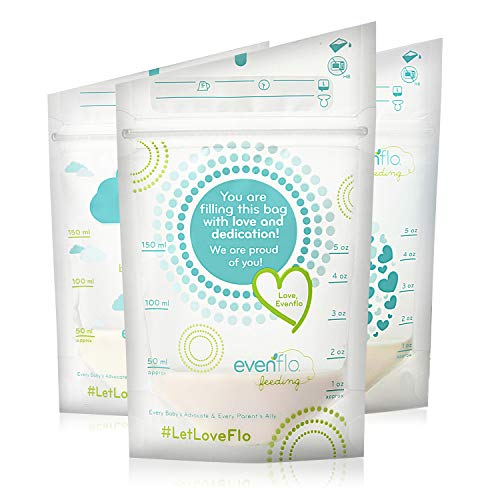 Evenflo Feeding Evenflo Feeding Advanced Breast Milk Storage Bags for Breastfeeding - 5 oz (100Count)