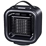 ZLZNX Calefactor Cerámico 400W, Portátil Eléctrico Calefactor PTC Calentador de Aire con Protección contra Sobrecalentamiento Ajustable para el Hogar y la Oficina