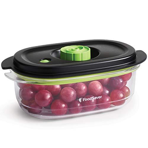 FoodSaver Recipiente de envasado al vacío de alimentos para conservar y marinar, Recipiente hermético para alimentos sin BPA, A prueba de fugas, Apto para lavavajillas, 700 ml