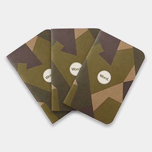 Word. Notebooks Swedish Camo (3-pack)
