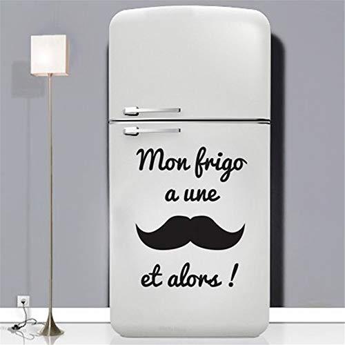 etiqueta de la pared decoración mon frigo a une et alors para cocina comedor