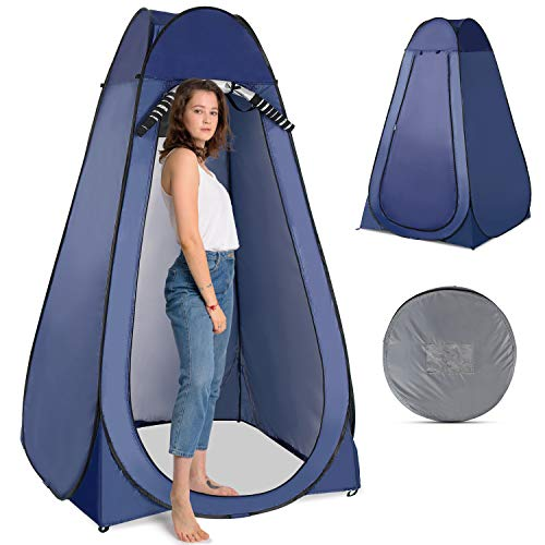 Walmeck Pop Up Privacy Shelter Tent Portable Outdoor Shower Toilet Changing Room Tent for Camping and Beach