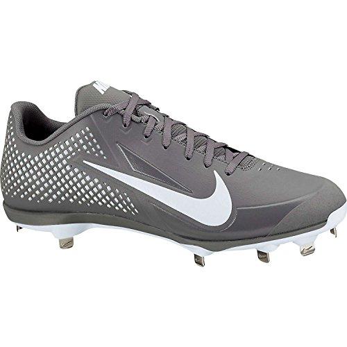 Nike Air Men's Zoom Vapor Elite Baseball Metal Cleats, Grey/White, 11 M US