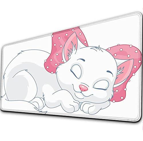 Alfrombrillas de ratón para Gamers Gato de Dibujos Animados Teclado de Ordenador...