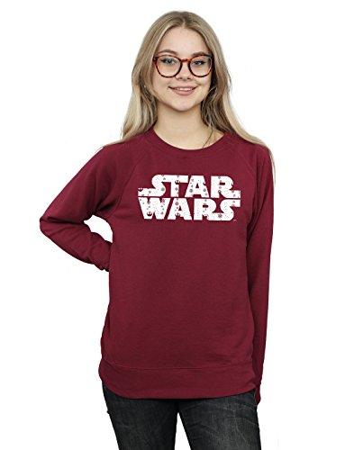 Star Wars Damen Christmas Logo Sweatshirt Medium Burgund