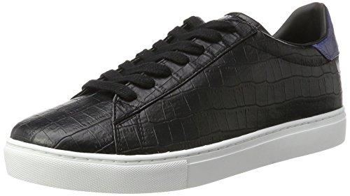 Armani Jeans Herren Low Cut Sneaker, Schwarz (Nero), 41 EU