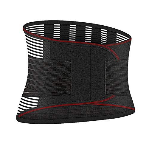 QHGao Cinturón De Soporte Lumbar De Compresión Ajustable para Espalda, Cinturón De Calentamiento Automático, Barra De Soporte para Aliviar El Dolor De Espalda, para Hombres Y Mujeres,XXL