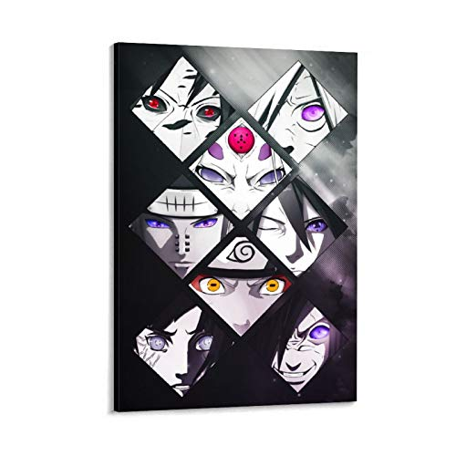 Póster de Naruto Mashup y arte de pared, diseño moderno, 40 x 60 cm
