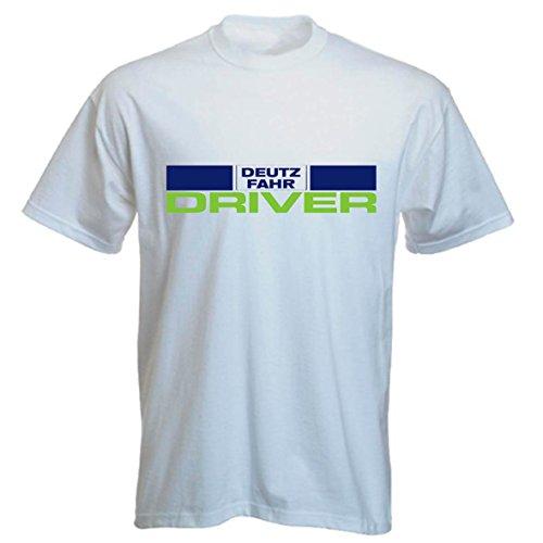 Landwirt Shirt mit Audruck: Deutz Fahr Driver in blau und hellgrün