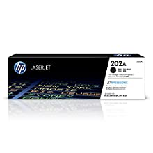 HP 202A (CF500A) toner cartridges work with: HP LaserJet Pro M254, M281cdw, M281dw. Original HP toner cartridges produce an average of 71% more usable pages than non-HP cartridges. HP 202a black toner cartridge yield (approx): 1, 400 pages 202a toner...