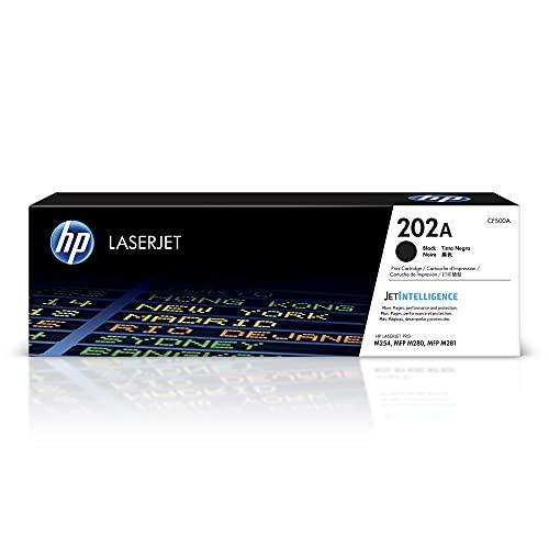 HP 202A | CF500A | Toner-Cartridge | Black | Works with HP LaserJet Pro M254, M281cdw, M281dw, M281fdw