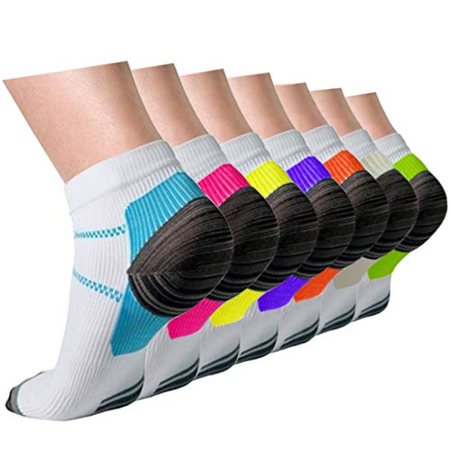 top rated Compressed stockings Plantar fasciitis Female Male 7 pairs, 8-15 mmHg Item No. A1-Mix 7 pairs, S / M. 2020
