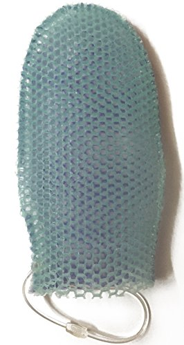 Supracor Stimulite Dual-Sided Bath Mitt - Lavender side (softer texture) Green side (firmer texture)