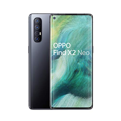OPPO Find X2 Neo Smartphone , Display 6.5'' AMOLED, 4, Fotocamere,256GB NON Espandibili, RAM 12GB, Batteria 4025mAh, Single Sim, 2020 [Versione italiana], Moonlight black