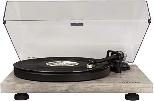Crosley C6 2-Speed Turntable, Vinyl Turntable w/ Built-in Pre-Amp & Adjustable Tone Arm - Grey